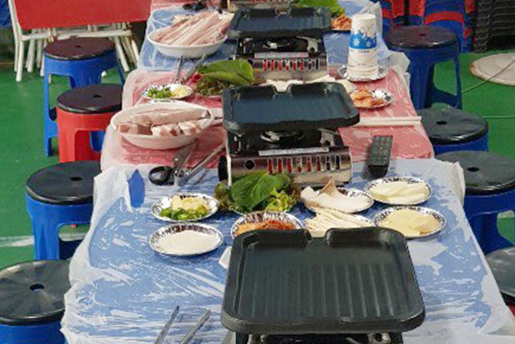 6인 여성도미토리+바베큐 파티